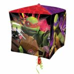 Balon foliowy Sześcian Wojownicze Żółwie Ninja