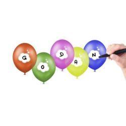 """balony, balony na hel, dekoracje balonowe, balony Łódź, balony z nadrukiem, Balony Premium """"Twój napis"""", 12"""" / 5 szt."""