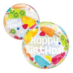 """balony, balony na hel, dekoracje balonowe, balony Łódź, balony z nadrukiem, Balon foliowy22"""" QL Bubble Poj. """"Birthday Frozen"""