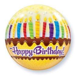 """balony, balony na hel, dekoracje balonowe, balony Łódź, balony z nadrukiem, Balon, foliowy 22"""" QL Bubble Poj. """"Tort ze świeczk"""