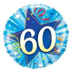 """Balon foliowy QL Cir """"60,niebieski"""""""