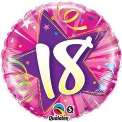"""Balon, foliowy 18"""" QL CIR """"18"""", różowy"""