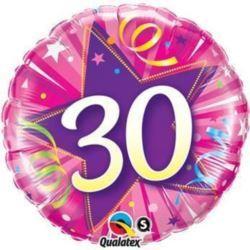 """Balon, foliowy 18"""" QL CIR """"30, różowy"""""""