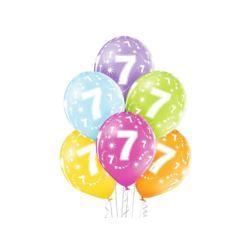 "Balony 12"" 7th Birthday 6 szt."