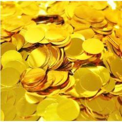 Konfetti do balonów foliowe , złoto - op. 50 g