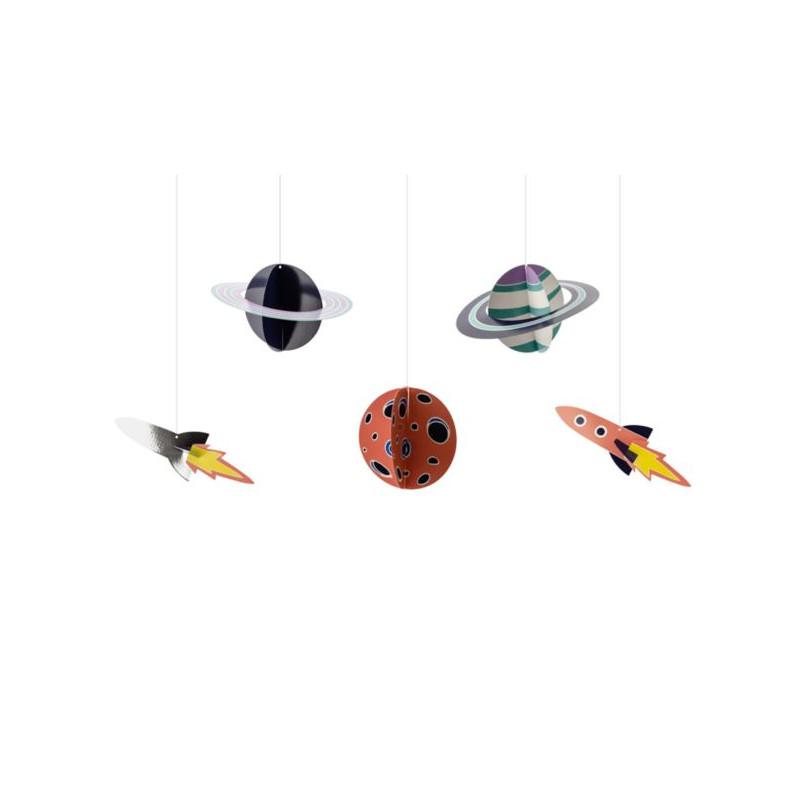 balony, balony na hel, dekoracje balonowe, balony Łódź, balony z nadrukiem Zawieszki dekoracyjne Kosmos, mix