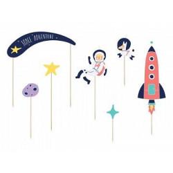 balony, balony na hel, dekoracje balonowe, balony Łódź, balony z nadrukiem, Topper na tort Kosmos, 9,5-24,5cm