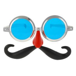 Okulary Jumbo z wąsami