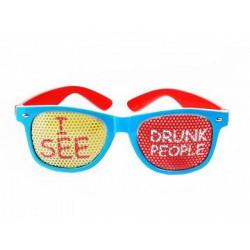 Okulary I see drunk people, turkusowy, 1 szt.