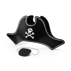 Czapka Pirata z opaską na oko, 14cm