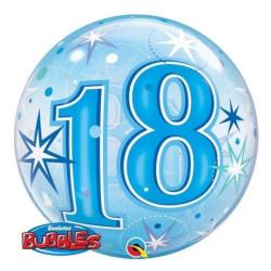 """balony, balony na hel, dekoracje balonowe, balony Łódź, balony z nadrukiem, Balon foliowy 22"""" QL Bubble Poj. """"18 Urodziny"""" nie"""