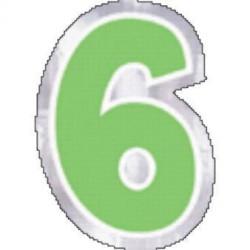 48 Naklejki Cyfra 6