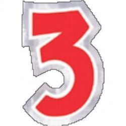 48 Naklejki Cyfra 3