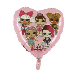 """Balon foliowy 18"""" HRT GRABO - LOL Surprice (pink)"""