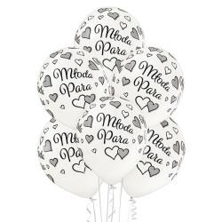 """balony, balony na hel, dekoracje balonowe, balony Łódź, balony z nadrukiem, Balony 12"""" Młoda Para 6 szt."""