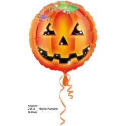balony, balony na hel, dekoracje balonowe, balony Łódź, balony z nadrukiem, Standard Halloween - dynia balon foliowy S40 opako