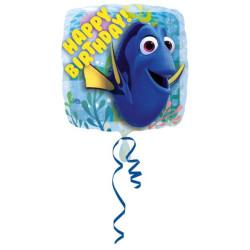 Balon foliowy Gdzie jest Dory Urodziny kwadrat S60