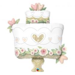 """Balon foliowy 41"""" QL SHP """"ZŁOTY WEDDING CAKE """""""