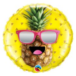 "Balon foliowy 18"" QL CIR ""Pan Ananas"""