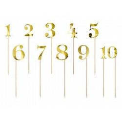 Numery na stół, złoty, 25,5-26,5cm