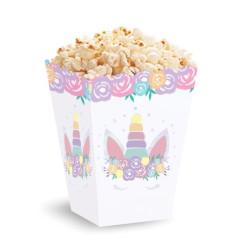 Pudełka na popcorn Jednorożec 3 szt