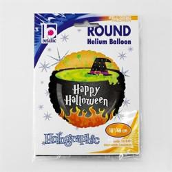 balony, balony na hel, dekoracje balonowe, balony Łódź, balony z nadrukiem, Balon Grabo 18'' Halloween Cauldron hol